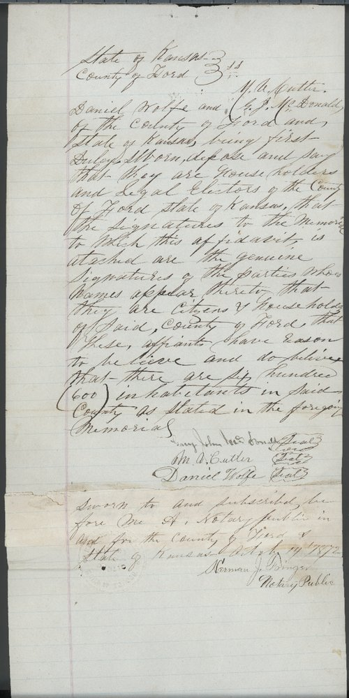 Ford County organization records - Page