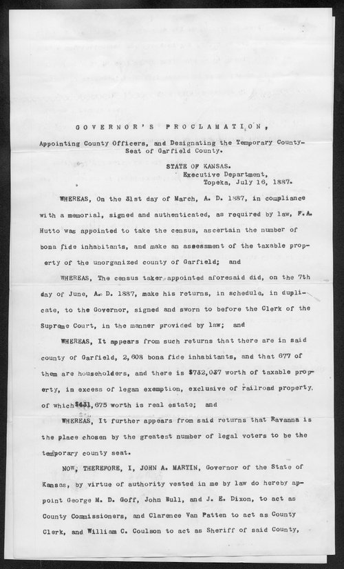 Garfield County organization records - Page