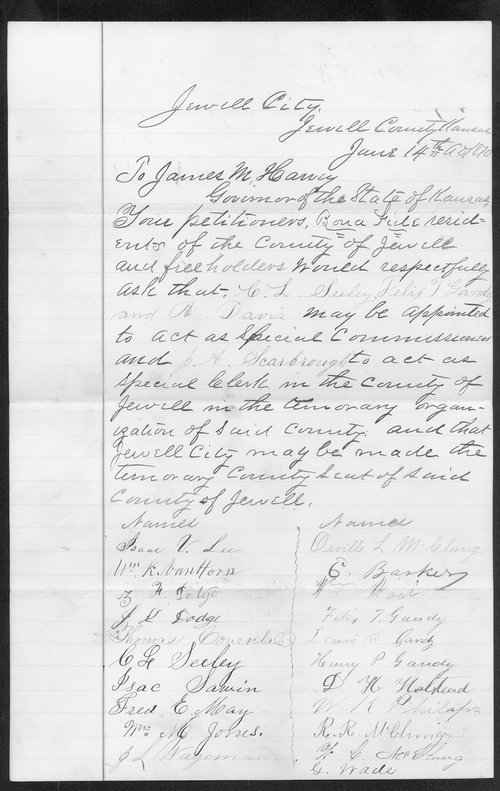 Jewell County organization records - Page