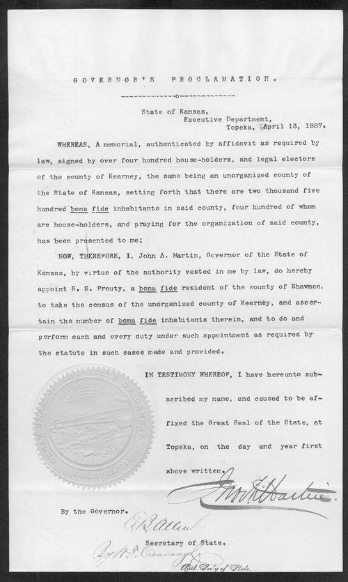 Kearney County organization records - Page