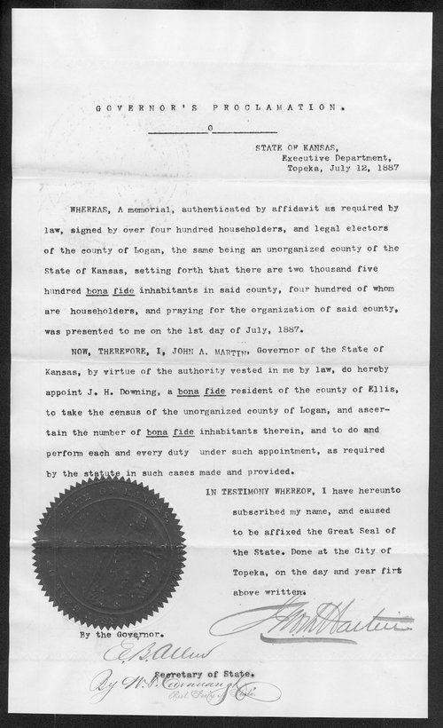 Logan County organization records - Page