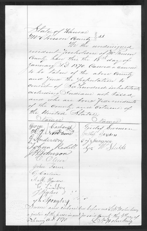 McPherson County organization records - Page