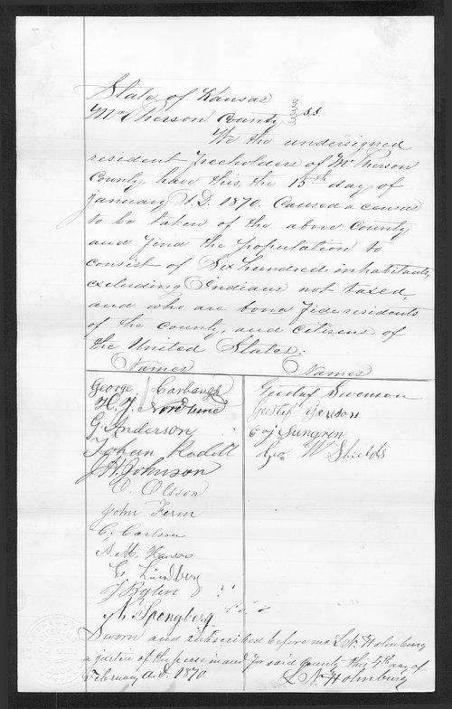McPherson County organization records - Page