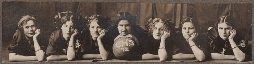 Girl's basketball team, Cimarron, Kansas - Page