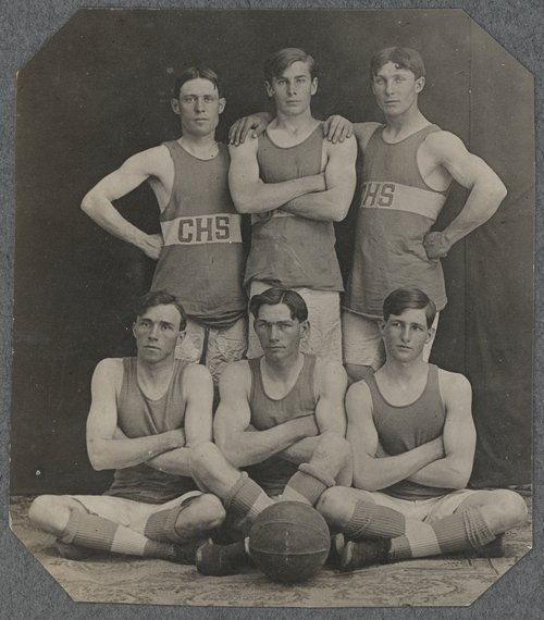 Boy's basketball team, Cimarron, Kansas - Page