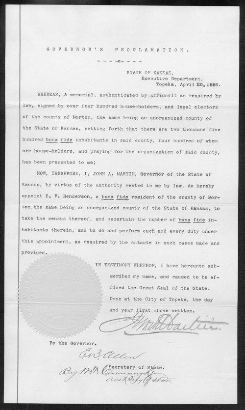 Morton County organization records - Page