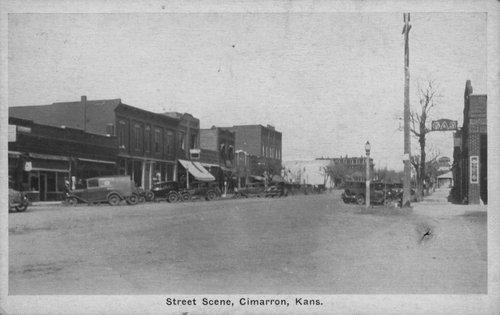 Street scene, Cimarron, Kansas - Page