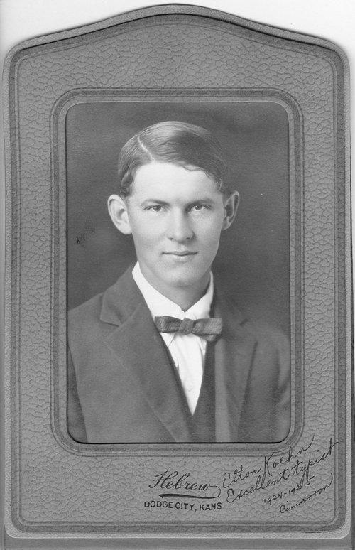 Elton Koehn, Cimarron, Kansas - Page