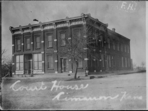 Business building in Cimarron, Kansas - Page