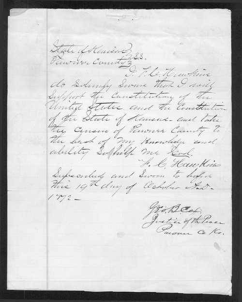 Pawnee County organization records - Page