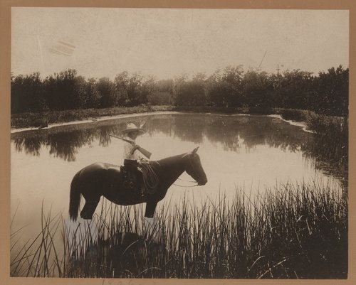 Boy on horse, Gray County, Kansas - Page