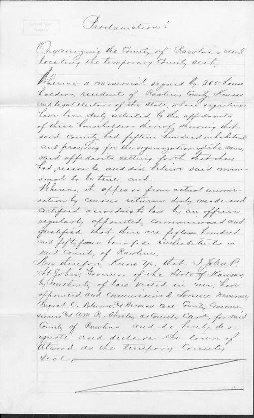 Rawlins County organization records - Page