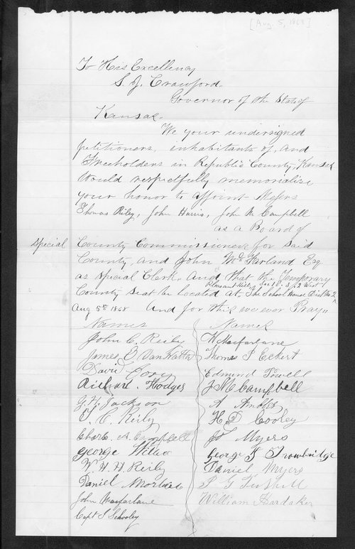 Republic County organization records - Page