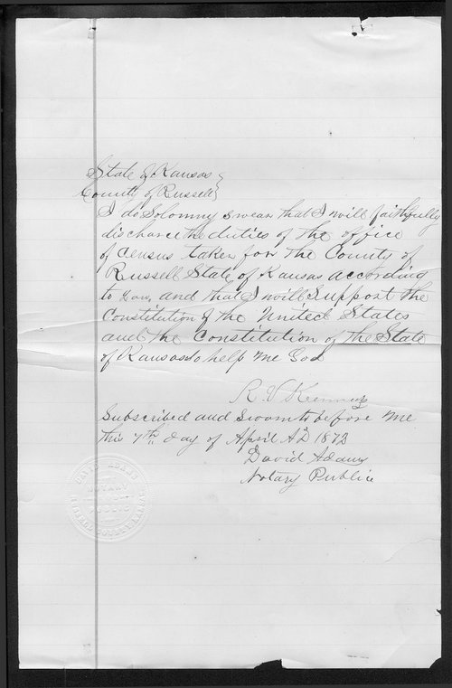 Russell County organization records - Page