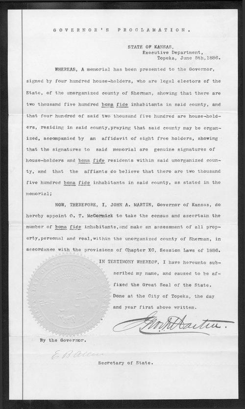 Sherman County organization records - Page