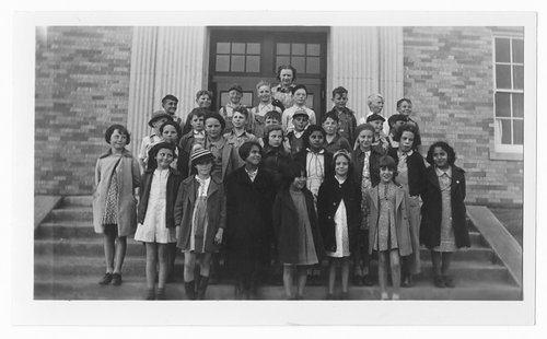 Fourth grade class, Cimarron, Kansas - Page