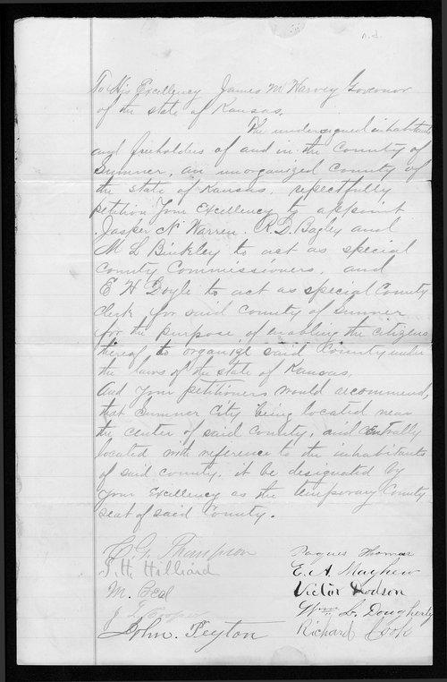 Sumner County organization records - Page