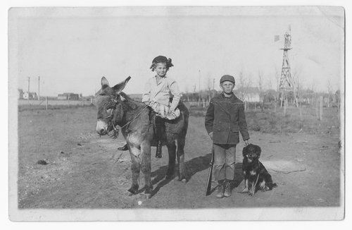 Children with animals, Gray County, Kansas - Page
