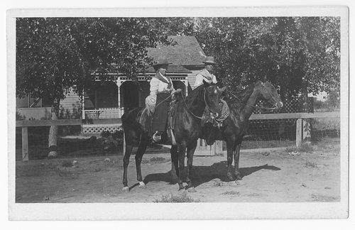 People on horseback, Gray County, Kansas - Page