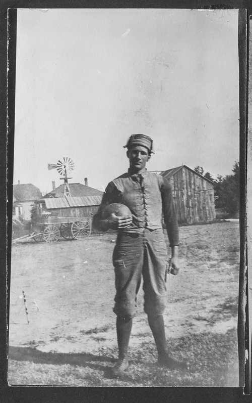 Frank Hungate, football player, Gray County, Kansas - Page