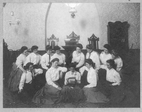 Group of women, Cimarron, Kansas - Page
