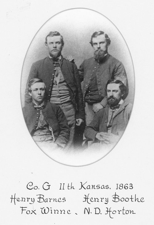 Members of Company G, Eleventh Kansas Volunteer Cavalry - Page