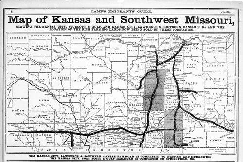 Map of Kansas and southwest Missouri - Page
