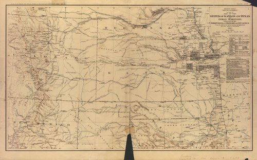 States of Kansas and Texas and the Indian Territory - Page