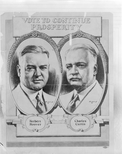 Herbert Hoover and Charles Curtis