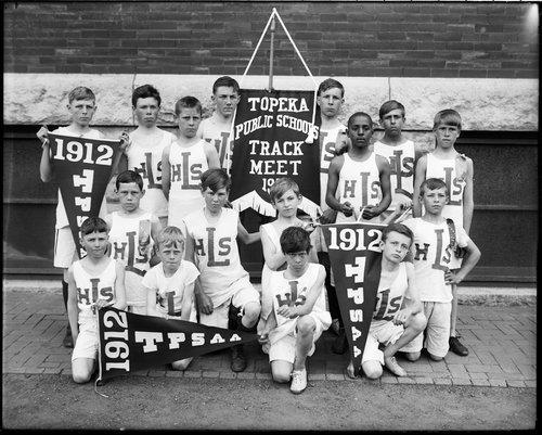 Lowman Hill School track team, Topeka, Kansas - Page