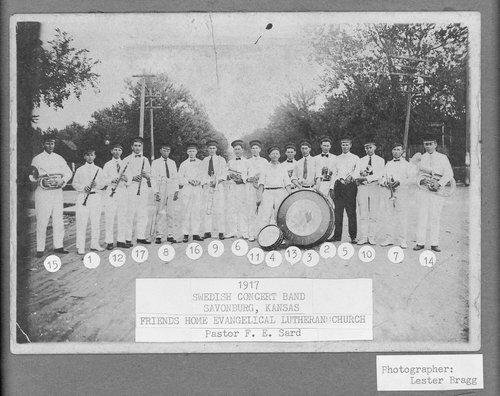 Swedish Concert Band, Savonburg, Kansas - Page