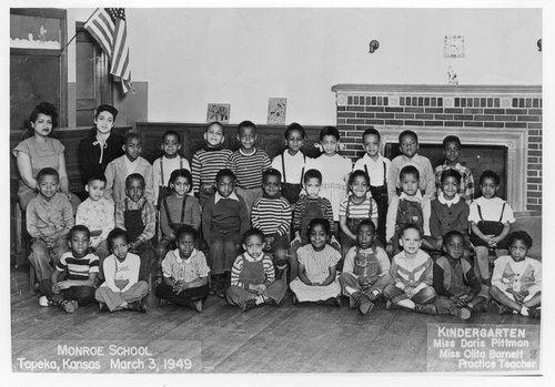 Monroe School kindergarten class, Topeka, Kansas - Page