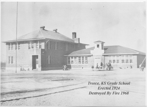 Photograph of the grade school at Treece, 1950s