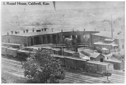 Chicago, Rock Island & Pacific Railroad roundhouse, Caldwell, Kansas - Page