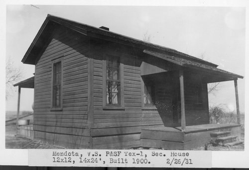 Atchison, Topeka & Santa Fe Railway Company section house, Mendota, Texas - Page