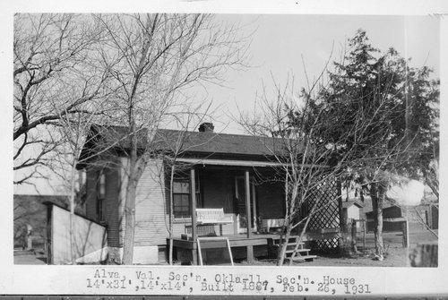 Atchison, Topeka & Santa Fe Railway Company section house, Alva, Oklahoma - Page