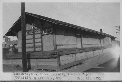 Atchison, Topeka & Santa Fe Railway Company's freight depot, Woodward, Oklahoma - Page