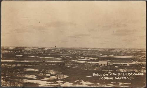 Birds eye view of Luray, Kansas - Page
