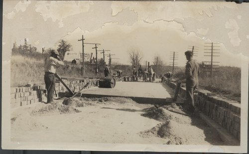 Laying a brick road near Kansas City, Kansas - Page