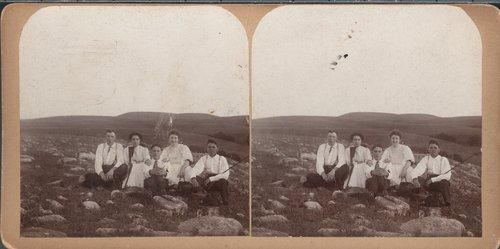 People sitting on rocks, Marshall County, Kansas - Page