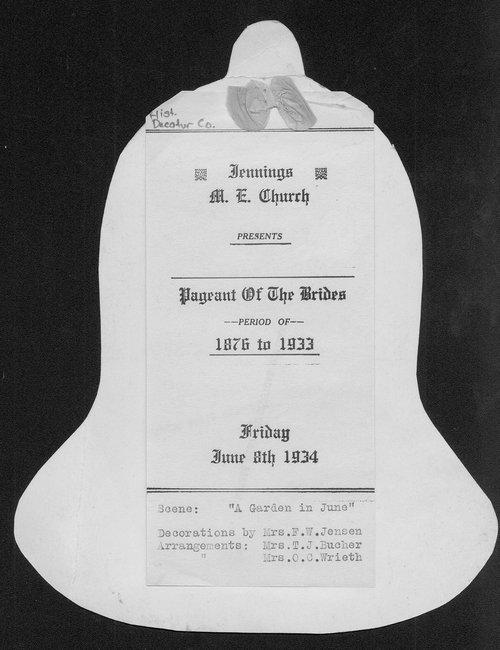 Jennings M.E. Church presents pageant of the brides period of 1876 to 1933 - Page