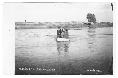 Fording Arkansas River, Syracuse, Hamilton County, Kansas - Page