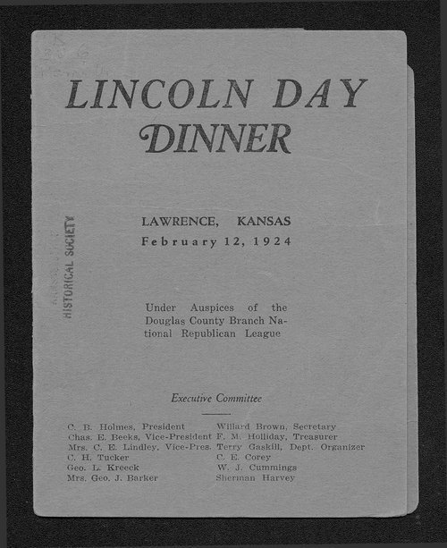 Lincoln Day dinner - Page