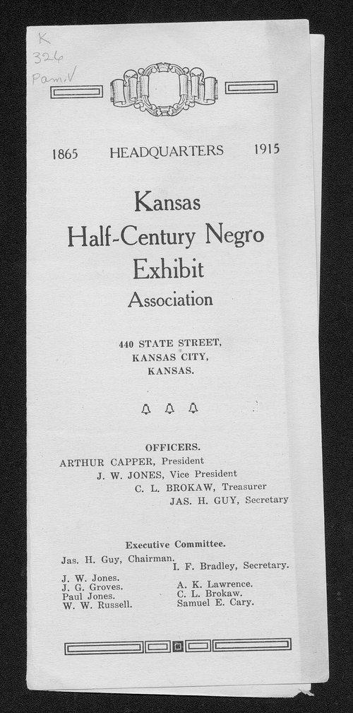 Kansas Half-Century Negro Exhibit Association - Page