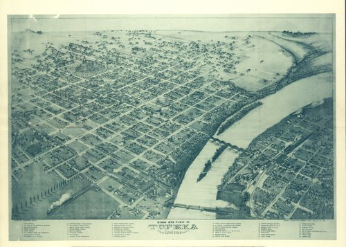Birds eye view of Topeka, Kansas - Page