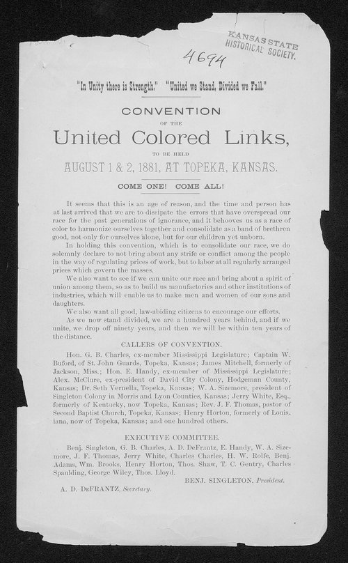 Convention of the United Colored Links - Page