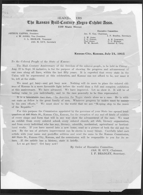 The Kansas Half-Century Negro Exhibit Association - Page