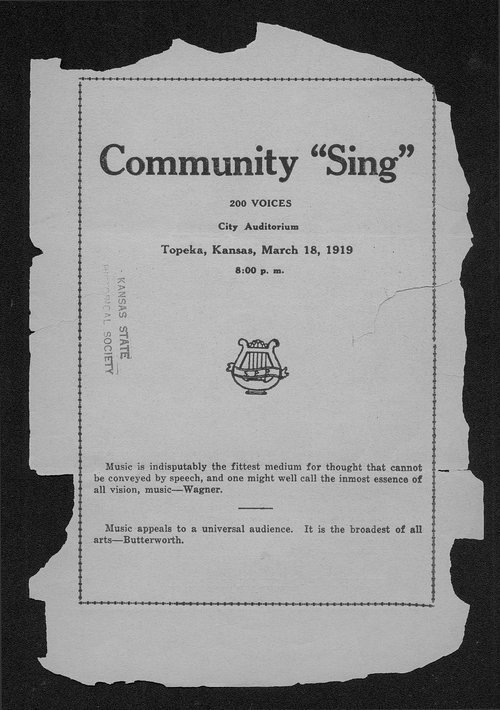 "Community ""sing"" - Page"