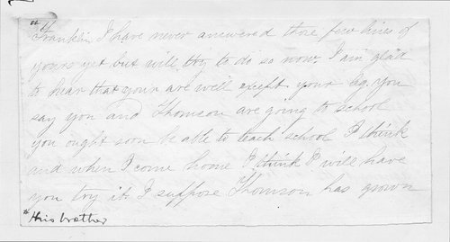 William Quantrill to [his brother] Franklin - Page