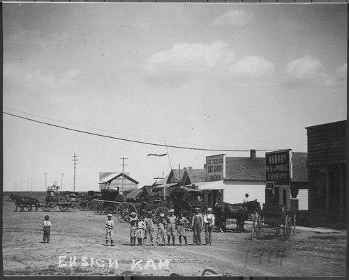Business street, Ensign, Kansas - Page